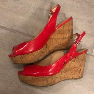 Red Wedges size 7